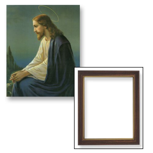 "10x12.5"" Christ Overlooking Jerusalem Frame"