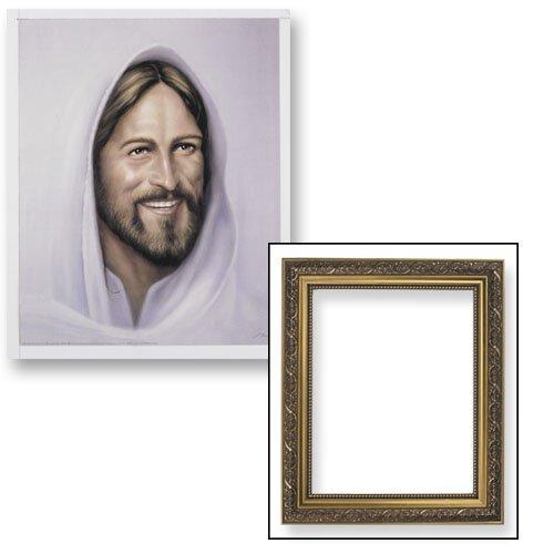 Smiling Jesus Framed Print