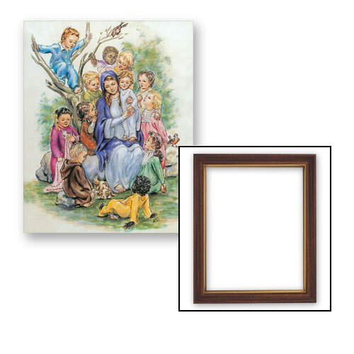 10x12.5 McCallum: Mary with Children Frame