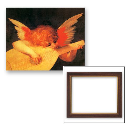 10x12.5 Fiorentino: Angel with Mandolin Frame