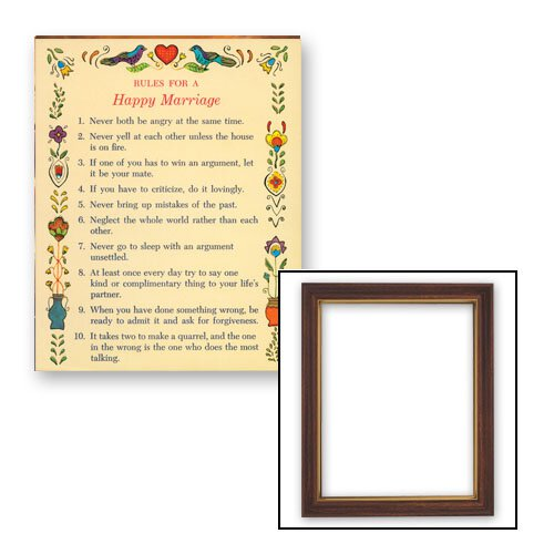 Rules for a Happy Marriage Frame