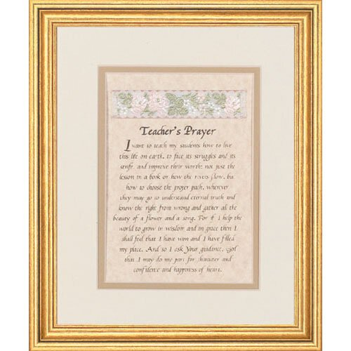 "10 x 12"" Teacher's Prayer Frame"