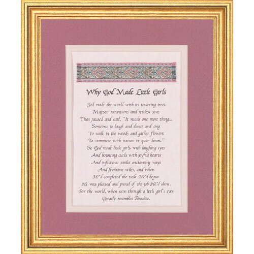 10 X 12 Why God Made Little Girls Frame Discontinued