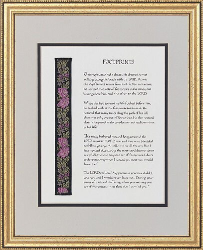 13 x 16 Footprints Frame - Gifts