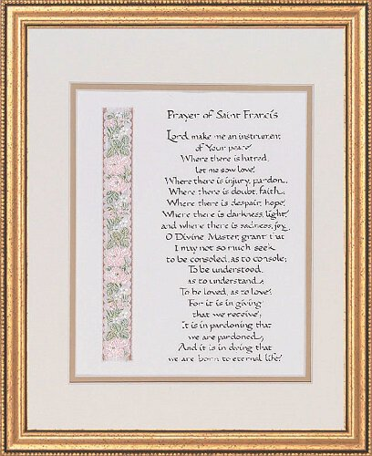 "13 x 16"" Prayer of Saint Francis Frame"
