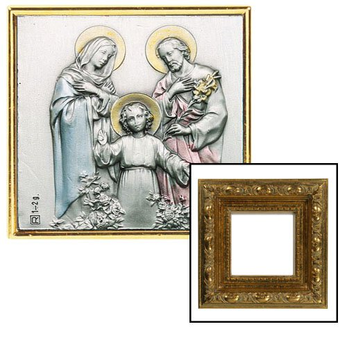 Holy Family Gold Leaf Frame