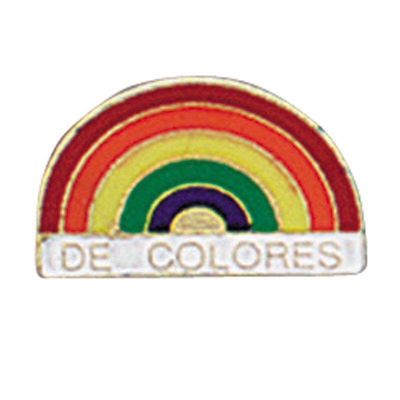De Colores Rainbow Lapel Pin - 25/pk
