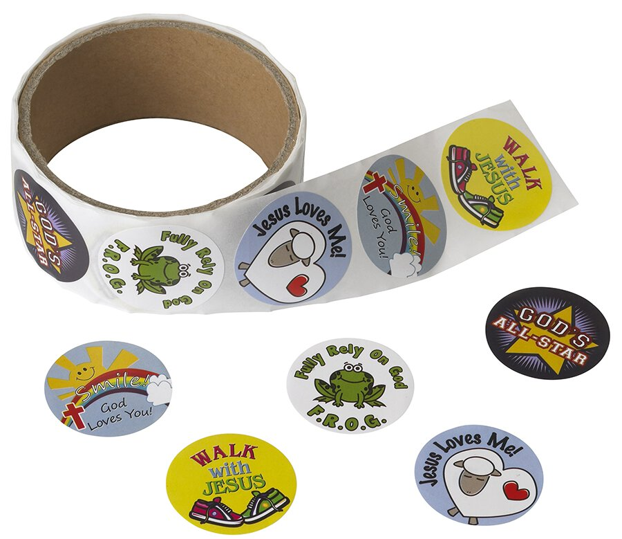Religious Sticker Assorted Roll