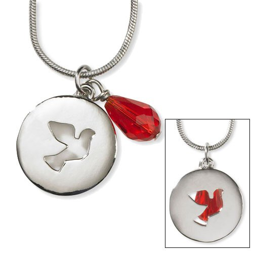 Cut Out Dove Necklace with Dangle - 4/pk