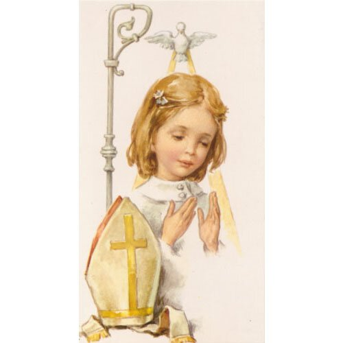 Confirmation Girl Holy Card 100 pk