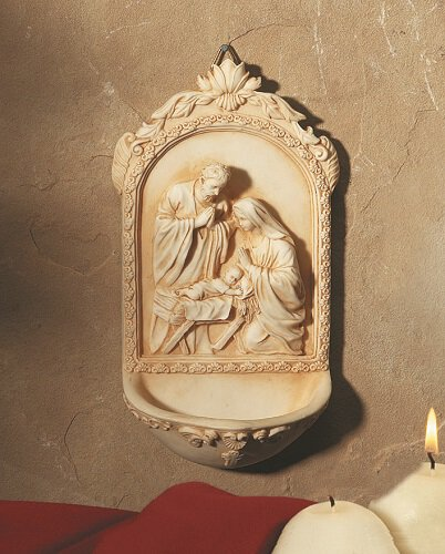 Nativity Holy Water Font - 4/PK