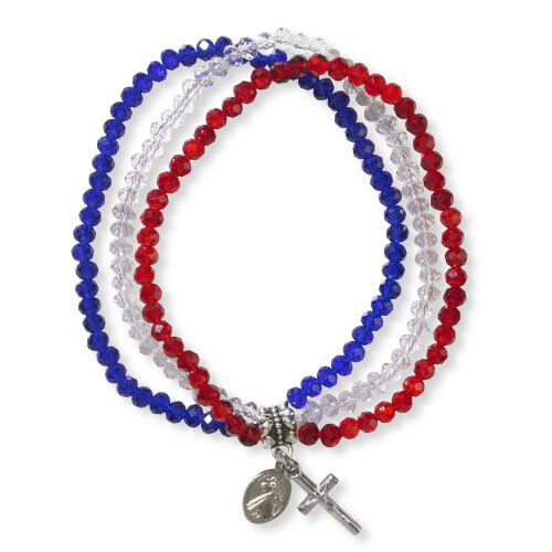 Divine Mercy Triple Strand Bracelet - 4/pk
