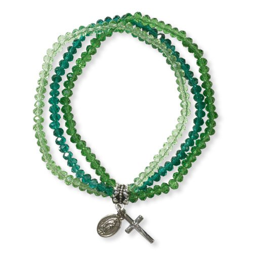 Our Lady of Guadalupe Triple Strand Bracelet