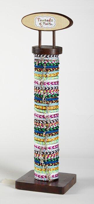Satin Nylon Friendship Bracelet Display
