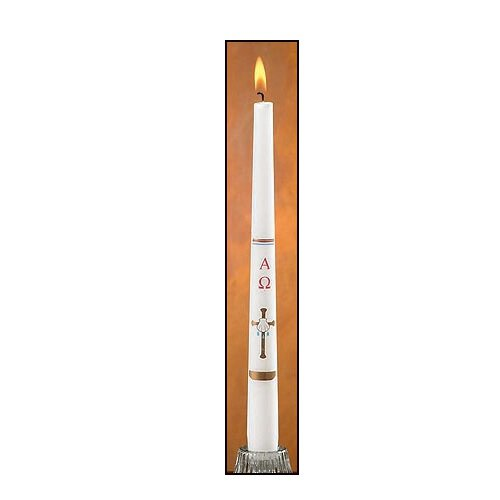 Cross/Shell Baptismal Candle - 24/pk