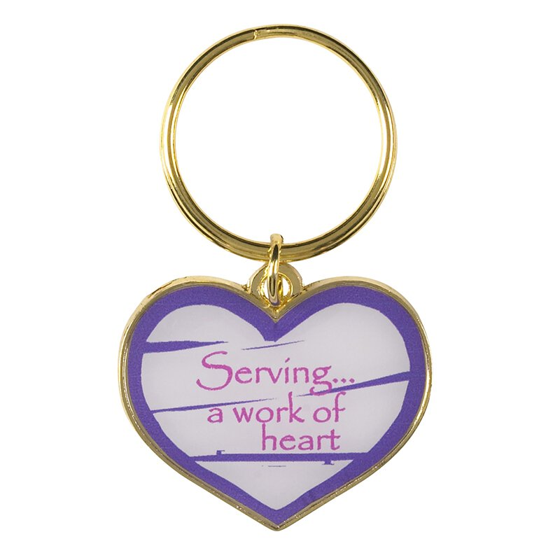 Serving is a Work of Heart Key Chain - 12/pk