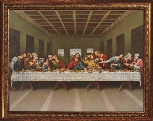 "14 x 18"" Da Vinci Last Supper Framed Print"