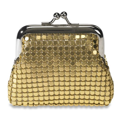 Gold Metal Mesh Clasp Rosary Case - 3/pk