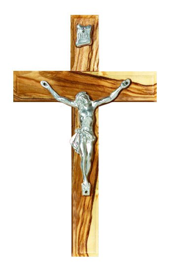 Olive Wooden Wall Crucifix