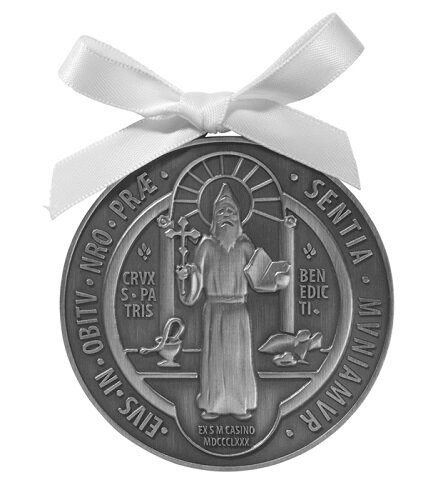 St. Benedict Crib Medal - 4/pk