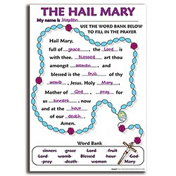 Color Your Own Poster - The Hail Mary - 50/pk