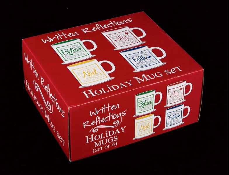Written Reflections Mug Gift Box Set 4 Pcs
