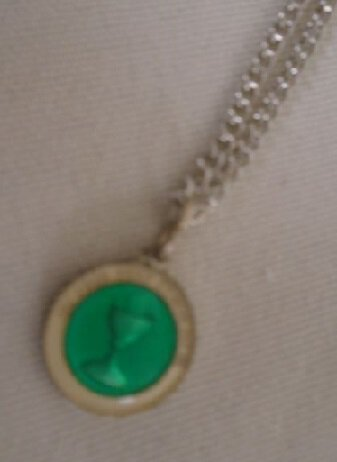 Emerald First Communion Chalice Medal