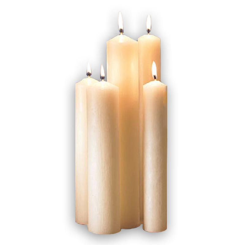 """Altar Brand® 51% Beeswax Altar Candle - 2 x 24"""" - 6/bx"""