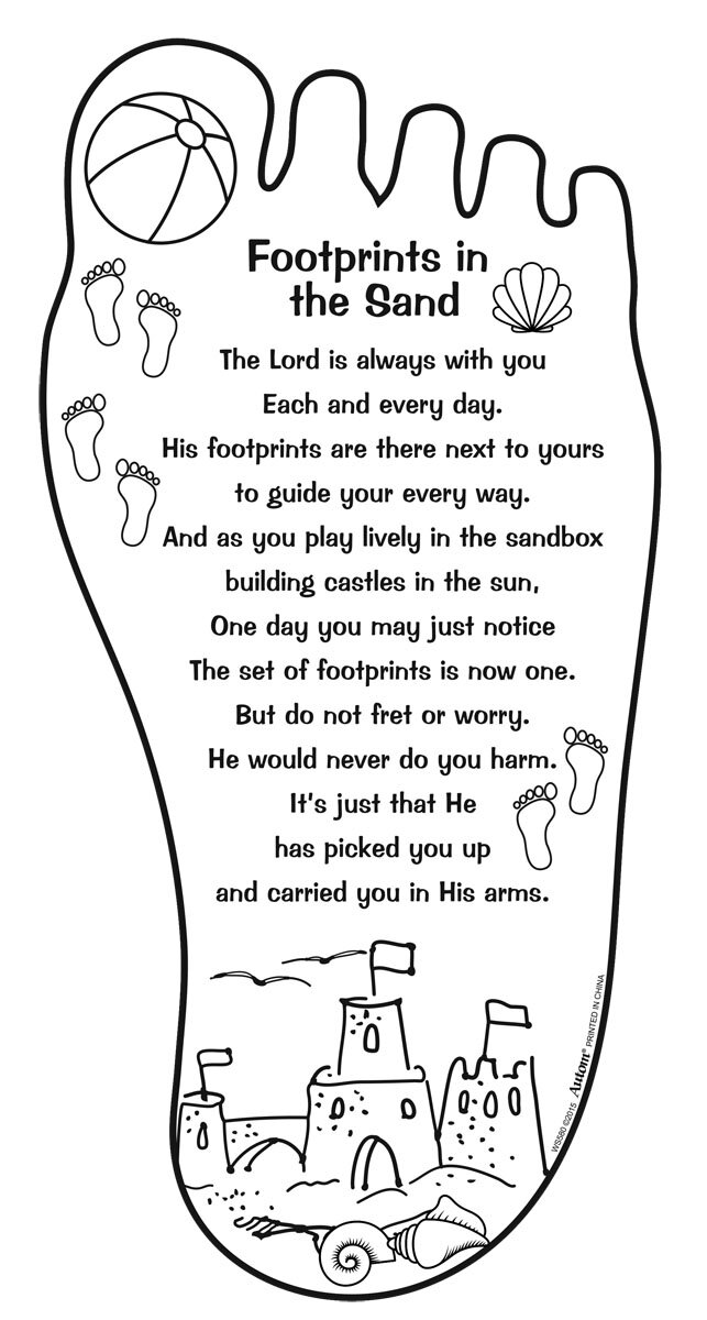 Color Your Own Footprints for Children Picture - 48/pk