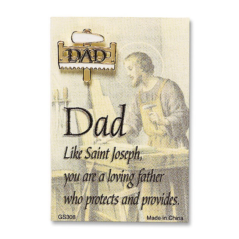 Dad Lapel Pin with Card - 25/pk