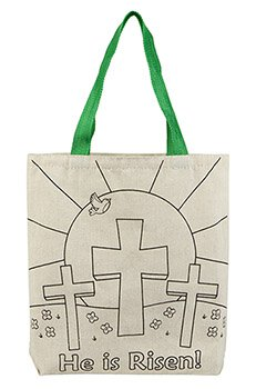 Color Your Own Tote Bag - He is Risen! Easter