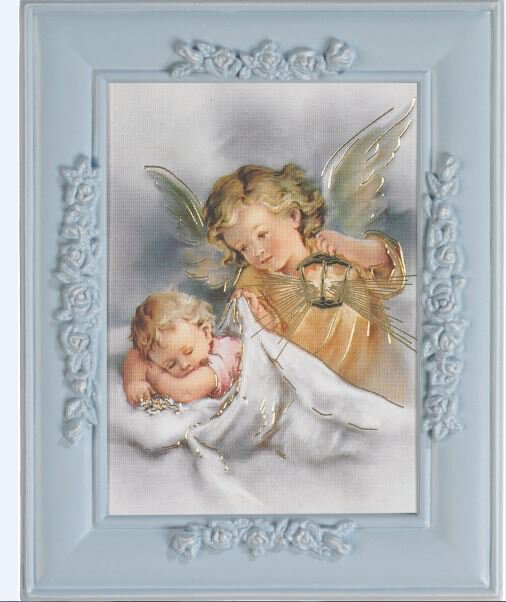 Guardian Angel Lamp Framed Print