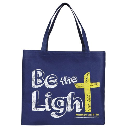 Be the Light Glow-in-the-Dark Tote Bag - 12/pk