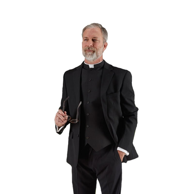 Black Clergy Vest