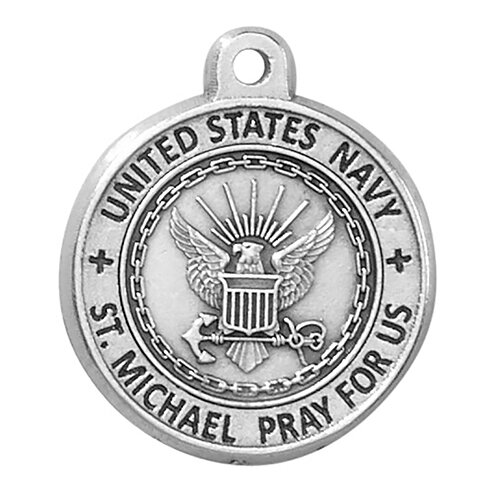 Creed® Heritage Collection St. Michael Medal - Navy