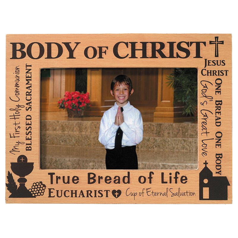 Body of Christ First Communion Photo Frame - 6/pk