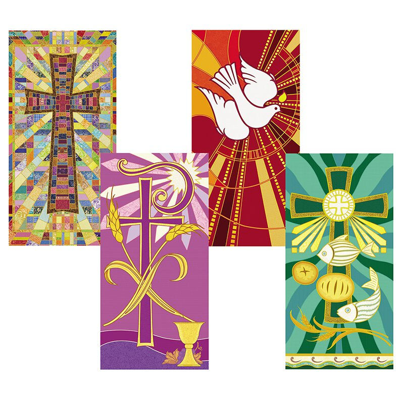 Tapestry Banner Set of 4