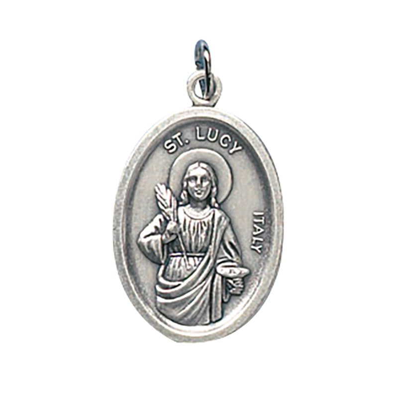 St. Lucy/Pray For Us Oxidized Medal - 50/pk