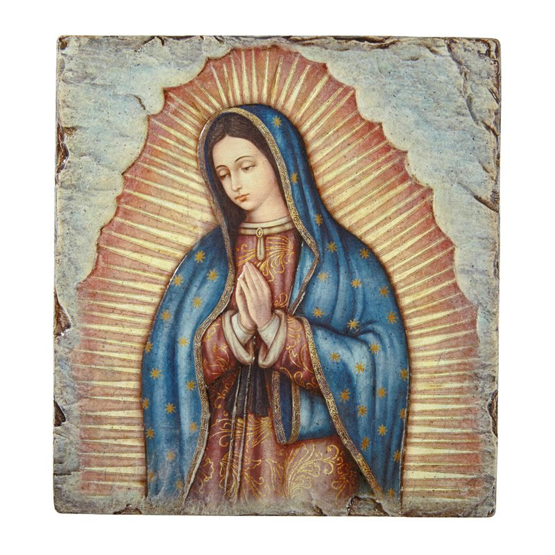 Marco Sevelli Tile Plaque - Our Lady of Guadalupe