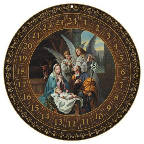 Round Advent Calendar  Nativity - 12/pk