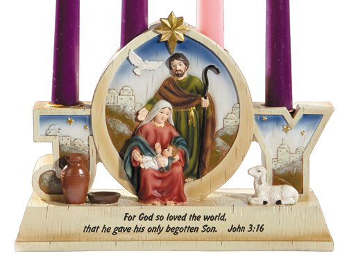 Joy Nativity Advent Candleholder