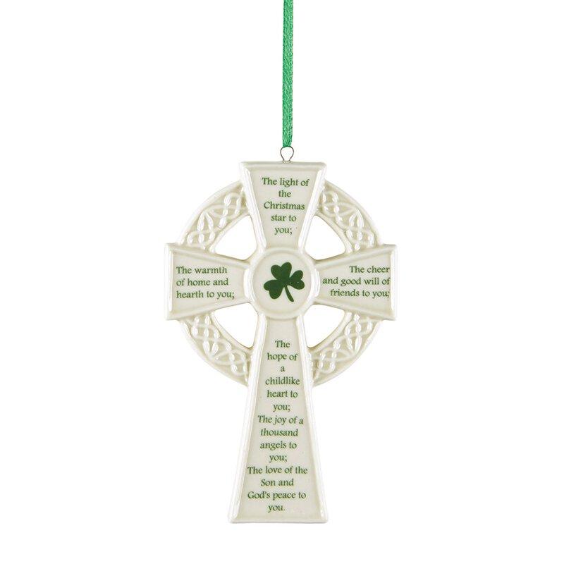 Irish Prayer Cross Ornament - 4/pk