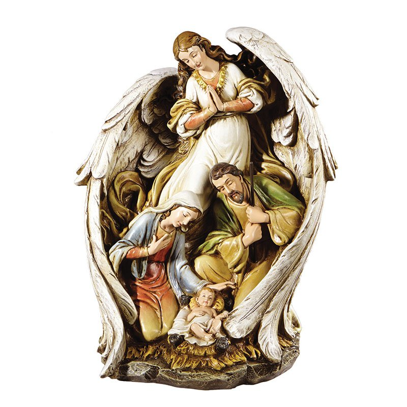 Angel with Nativity Figurine