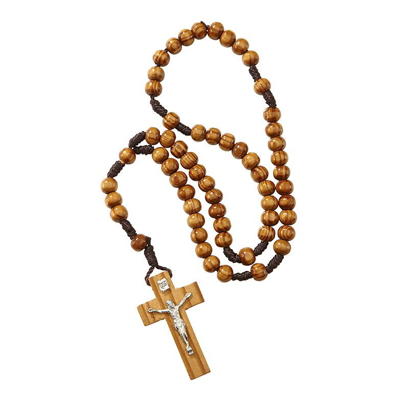 6mm Wood Cord Rosary - 12/pk