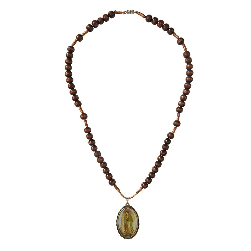 Our Lady of Guadalupe Rosary Necklace - 12/pk