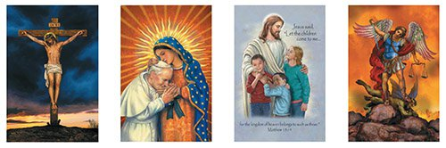 Catholic Banner Series - Set of 4