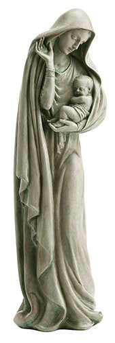 "12"" Mother and Child Garden Statue"