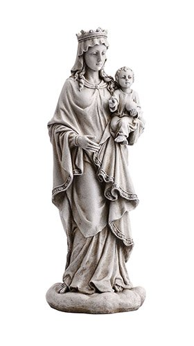 Mary Queen of Heaven with Child Garden Statue