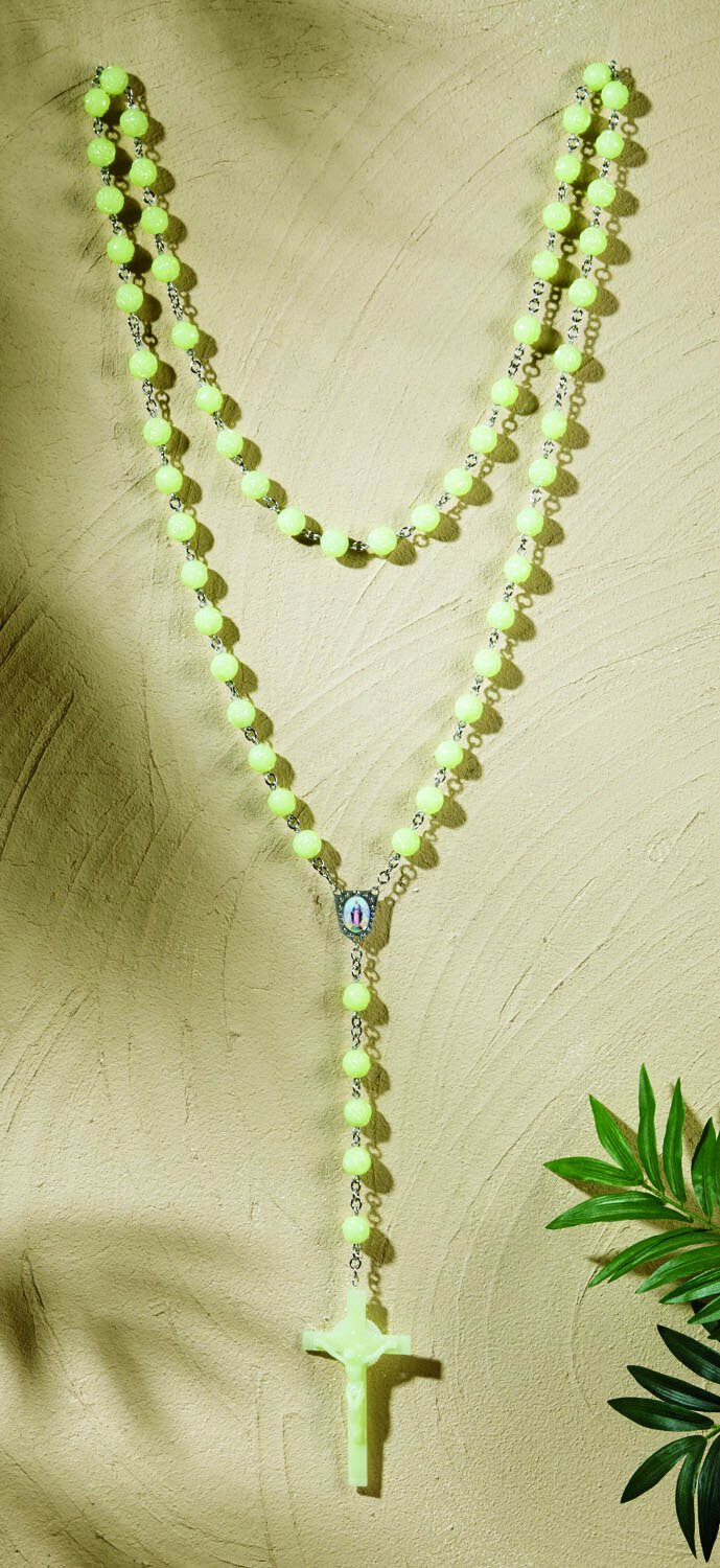 """56"""" Glow In the Dark Wall Rosary"""