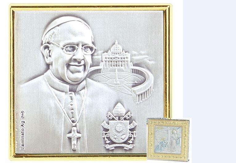 Pope Francis Silver Enamel